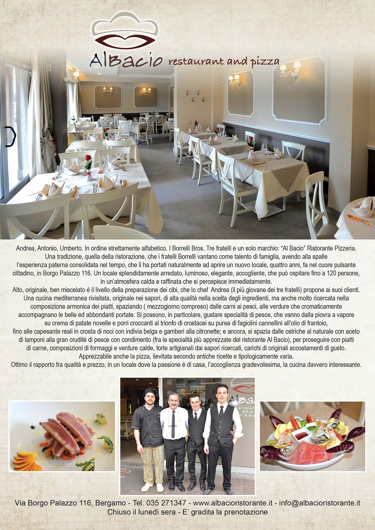 Al bacio ristorante e pizzeria for Cucina moderna giornale